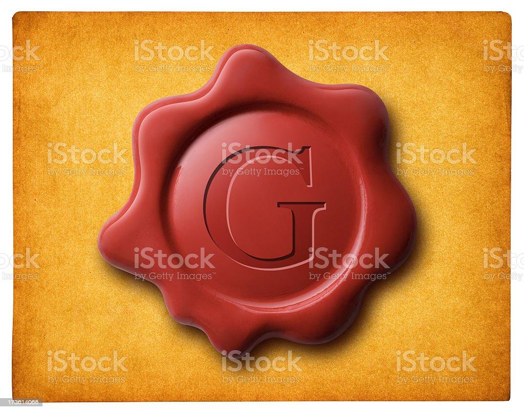 Seal of guarantee stock photo