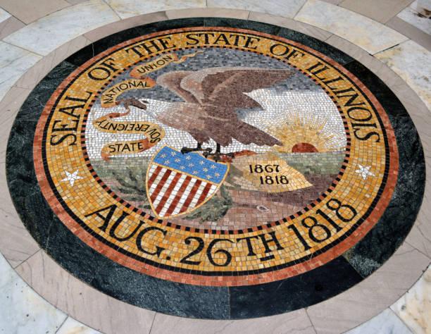 Seal of Illinois stock photo