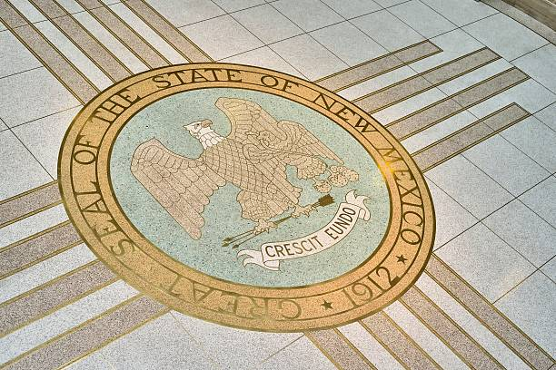 Seal of New Mexico in the State Capitol stock photo