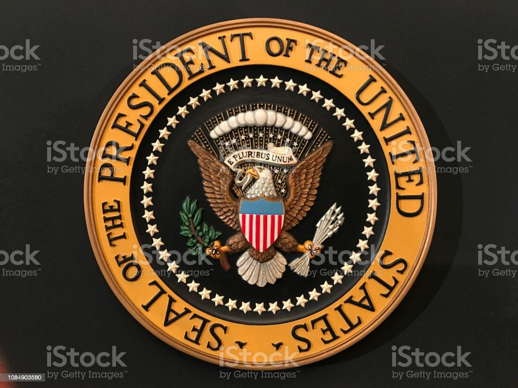 Seal of the President of the United States stock photo