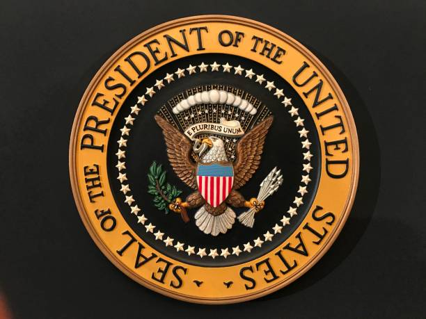 seal of the president of the united states - stamper stock photos and pictures