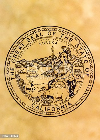 istock Seal of the State of California 854666974