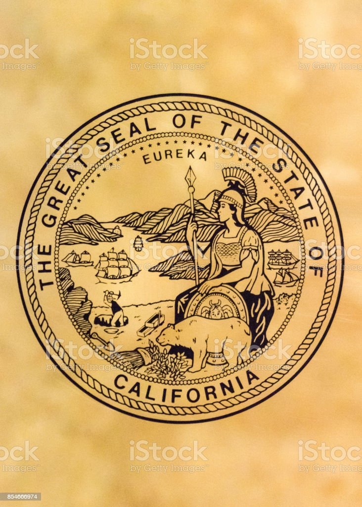 Seal of the State of California stock photo