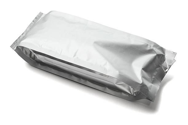sealed aluminum pouch - aluminiumkiste stock-fotos und bilder