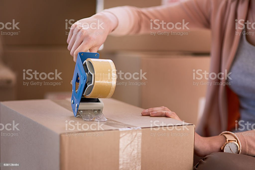 Sealed and ready to go stock photo