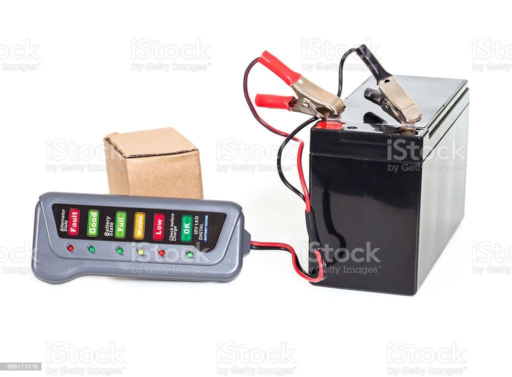 Sealed  battery isolated on white background stock photo