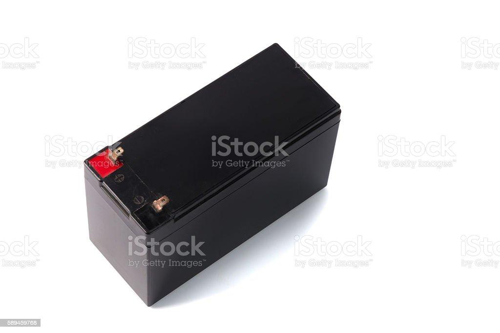 Sealed UPS battery  isolated on white background stock photo