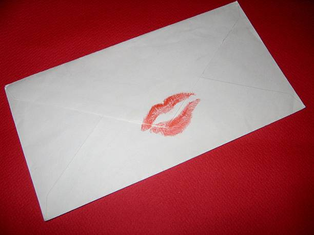 Sealed with a kiss stock photo