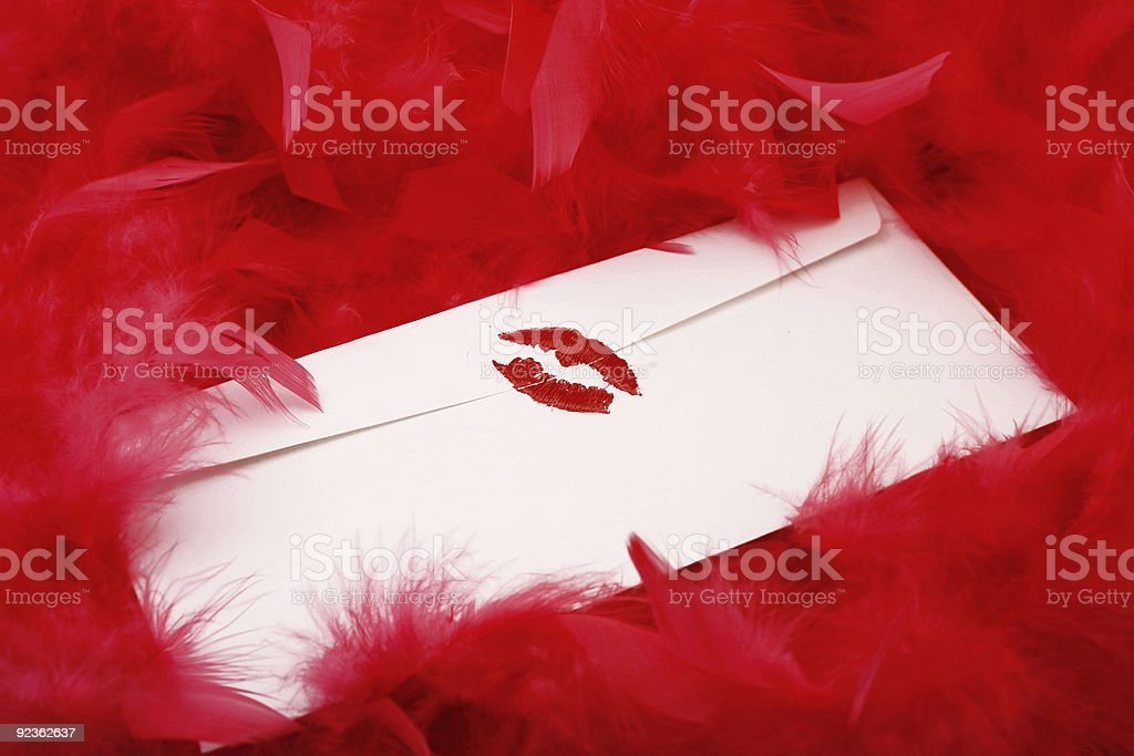 sealed with a kiss royalty-free stock photo