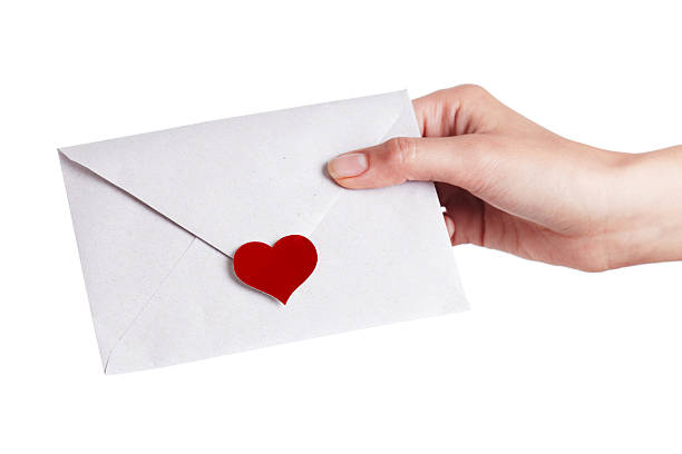 Sealed with love stock photo