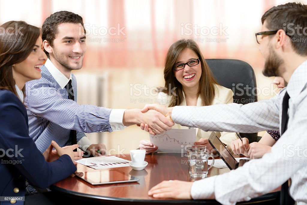Sealing a Deal stock photo
