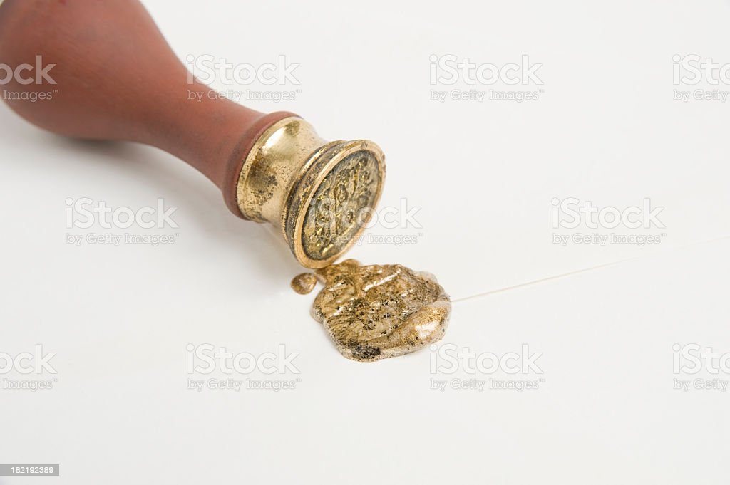 Sealing Wax and Seal. stock photo