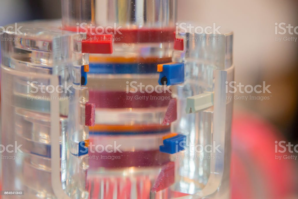 Seals for hydraulic systems stock photo