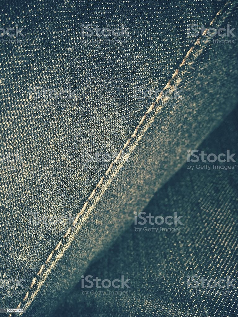 Seam on jeans royalty-free stock photo
