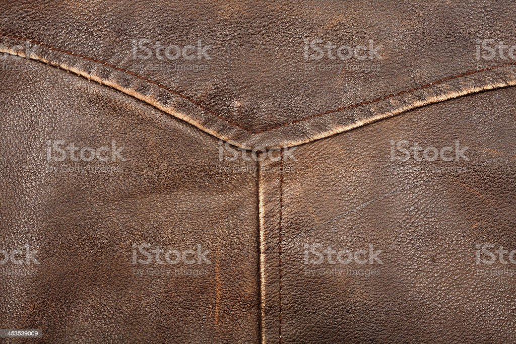 Seam on leather product royalty-free stock photo