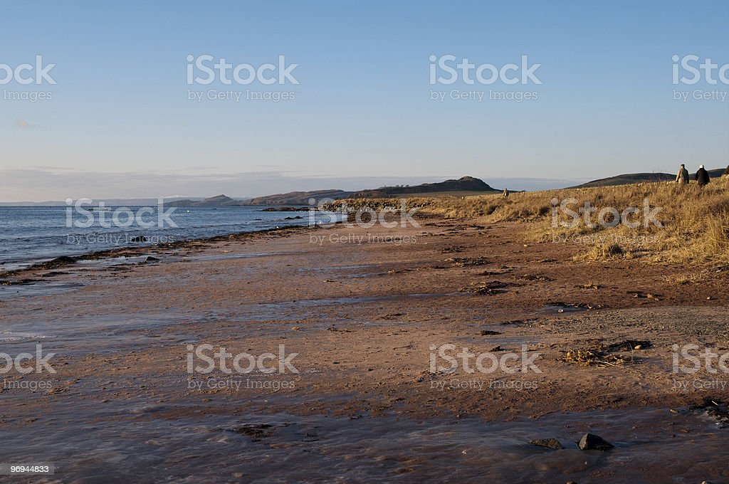 Seamill beach looking north royalty-free stock photo