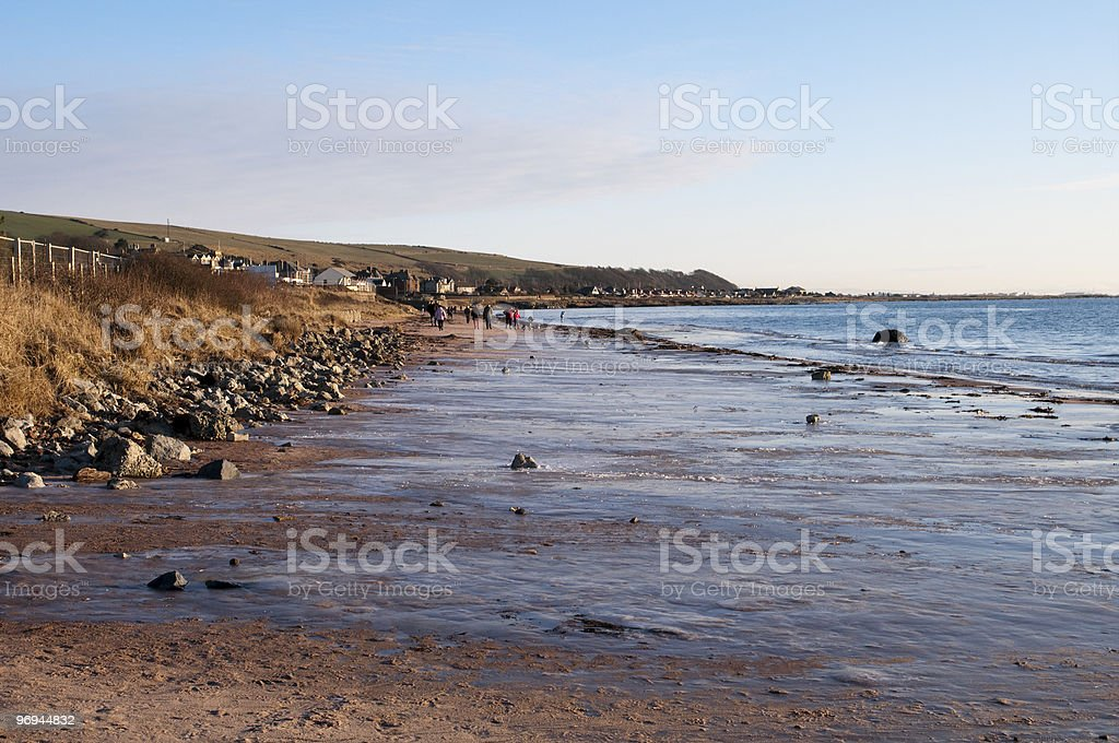 Seamill beach looking south royalty-free stock photo
