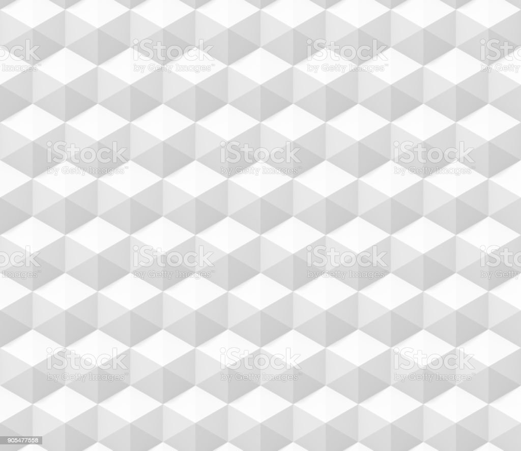 seamless abstract 3d background made of hexagon structures in white (3d illustration) stock photo