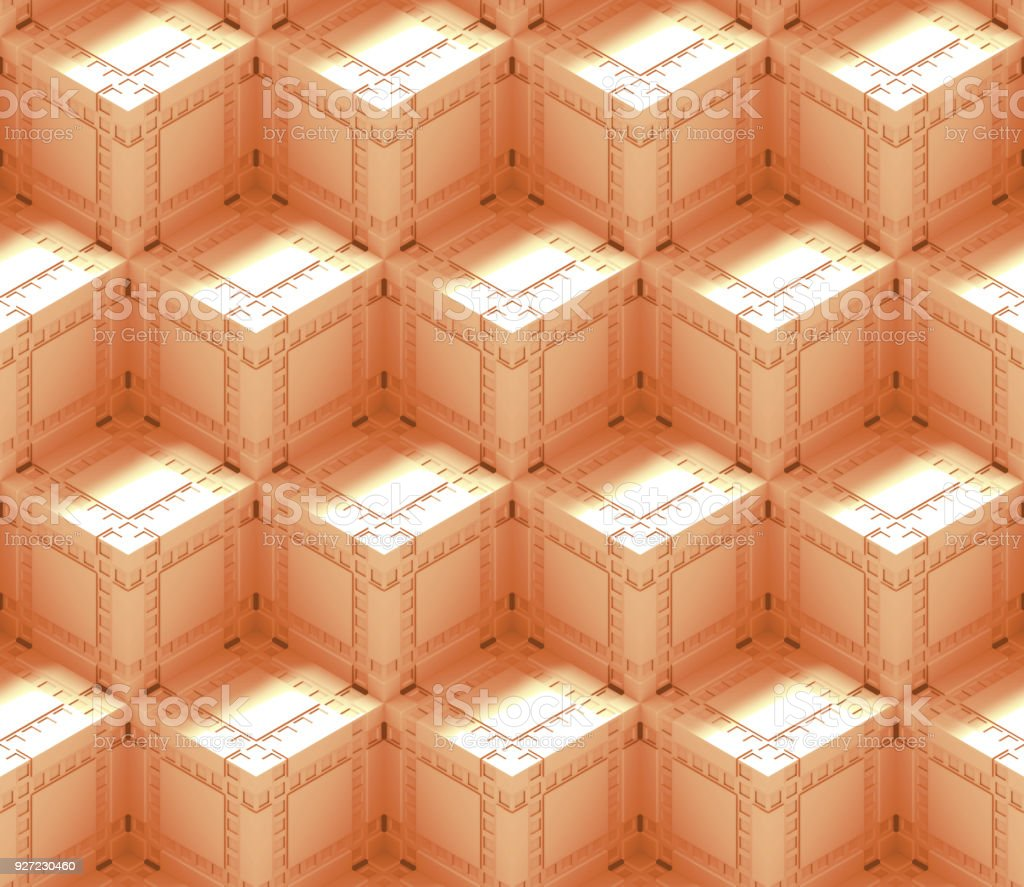 Seamless Abstract 3d Background Pattern Made Of An Array Of