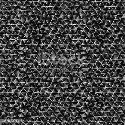 477312602 istock photo Seamless abstract black background pattern full of geometric polygonal triangular shapes 937010244