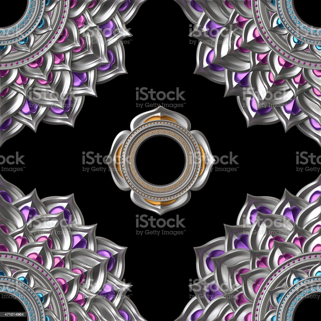 seamless abstract chakra pattern, geometric background stock photo