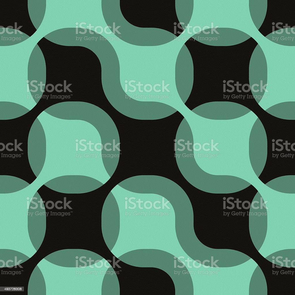 Diseño geométrico abstracto sin costuras sobre papel negro - foto de stock