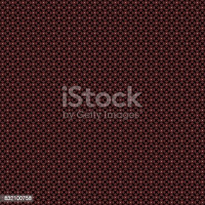 istock Seamless abstract grunge red texture fractal patterns 832100758