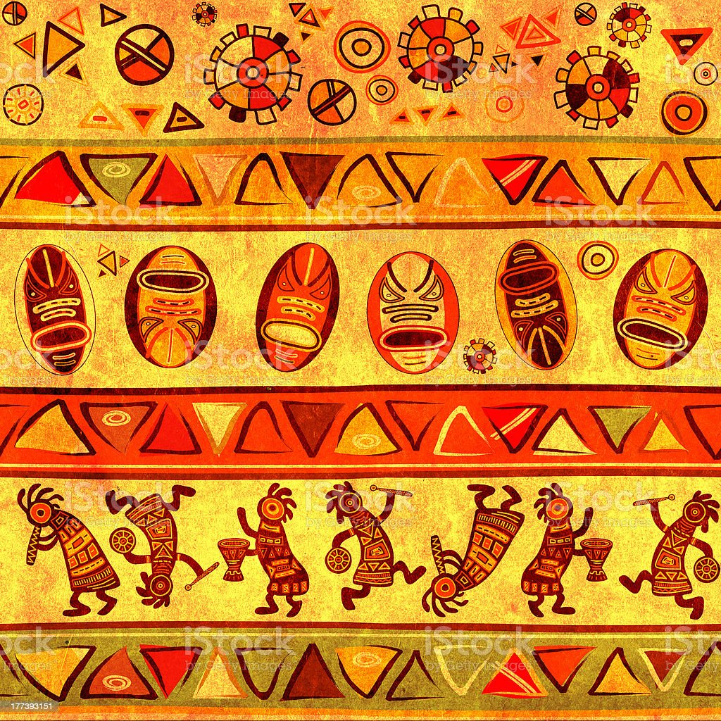 Seamless background with african traditional patterns royalty-free stock photo