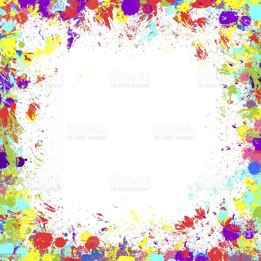 Seamless background with color ink spots royalty-free stock photo