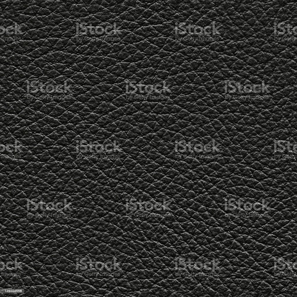 Seamless black leather background stock photo