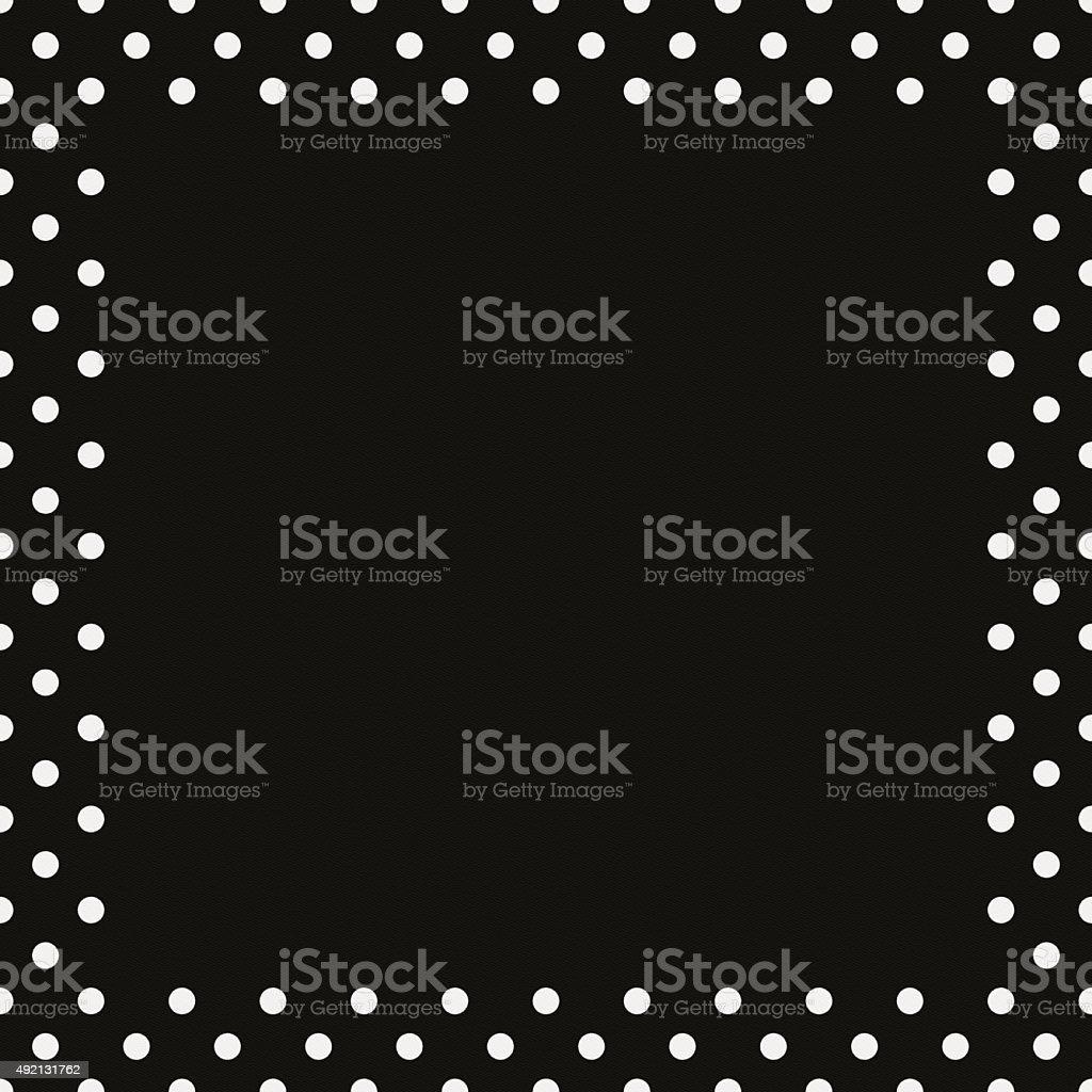Nahtloses Schwarzes Papier Mit Weißen Punkten Frame Stock-Fotografie ...