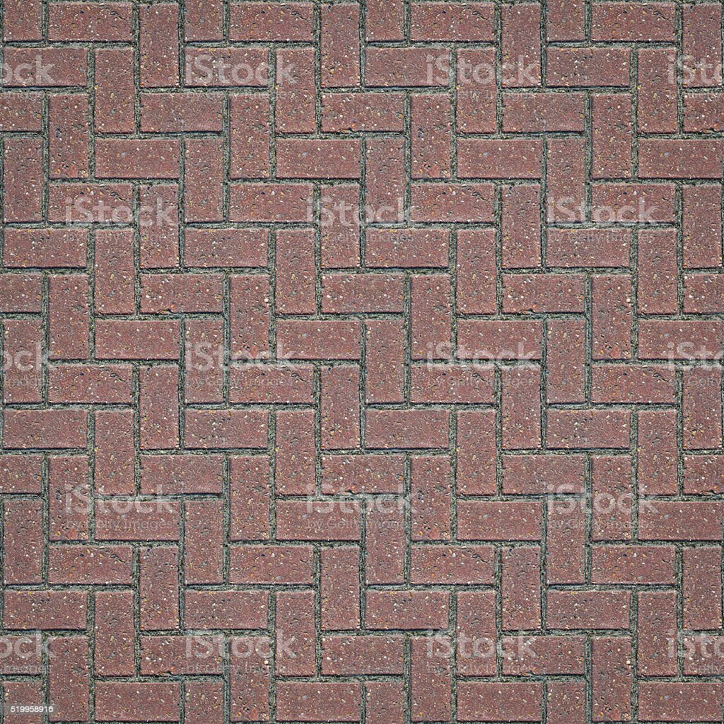 Seamless Block Paving Texture (1:1 Format) stock photo