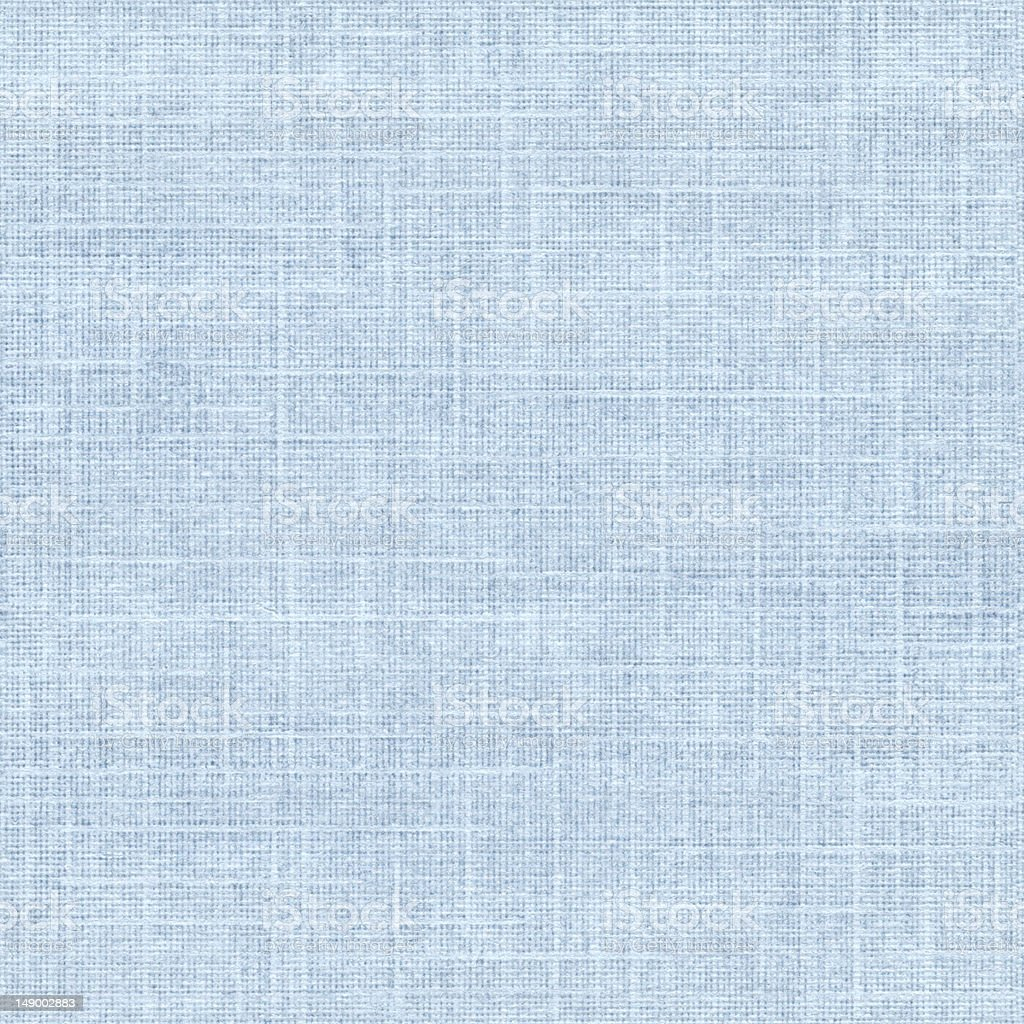 Seamless blue linen textured paper background royalty-free stock photo
