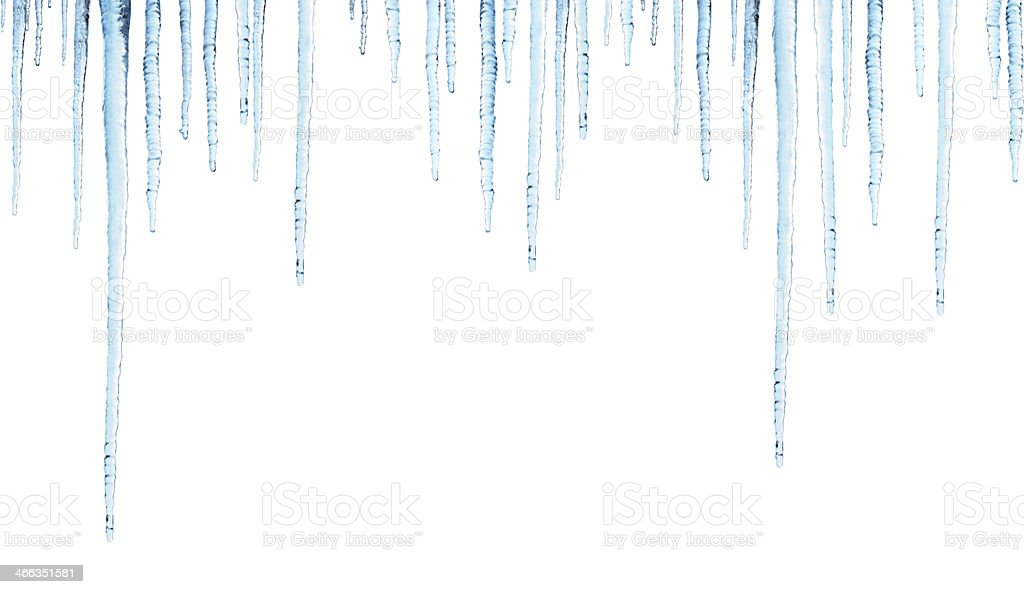 Seamless border with icicles stock photo