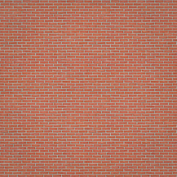 Seamless Brick Wall Texture (1:1 Format) stock photo