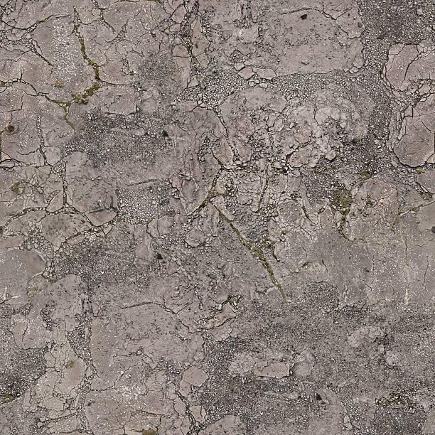 Seamless broken grunge asphalt pavement