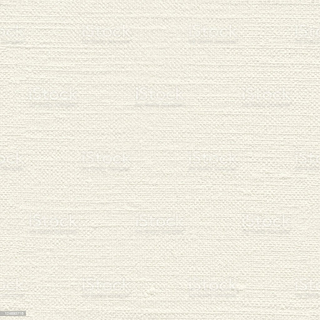 Seamless canvas-textured white paper background royalty-free stock photo