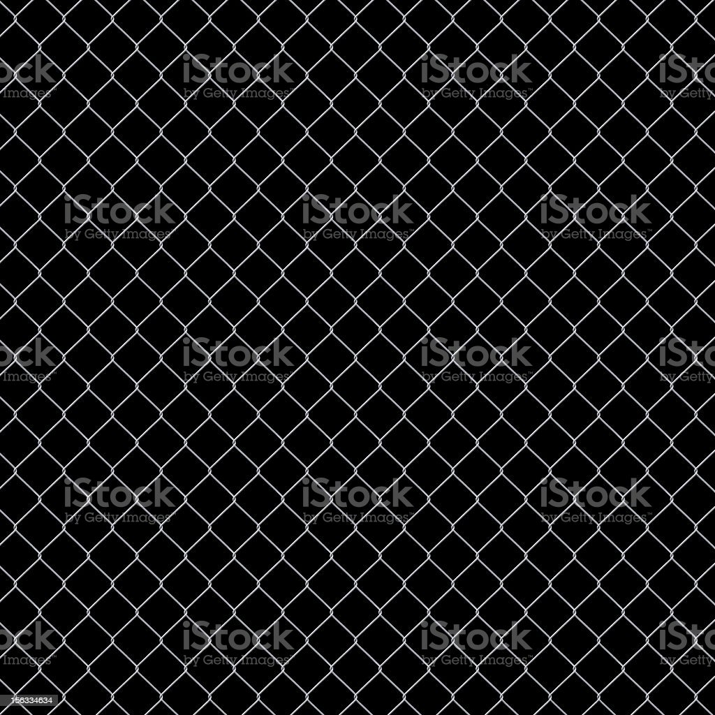 Seamless Chainlink Fence isolated on black background XXXL royalty-free stock photo