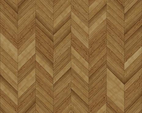Seamless chevron texture. Dark Oak wood. Hardwood flooring and laminate flooring texture. Classic parquet medium size planks pattern.