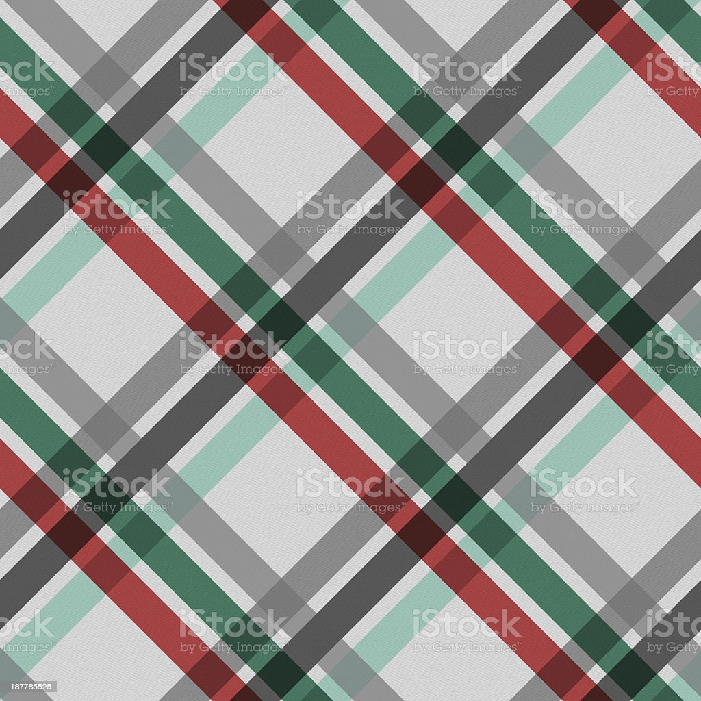 Seamless Christmas stripe pattern on white paper stock photo