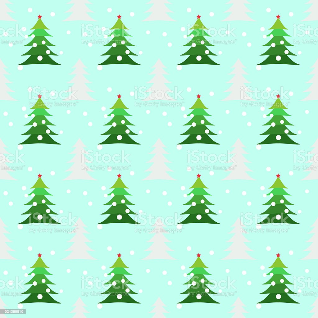 Seamless Christmas Trees Background Pattern Editable Background ...
