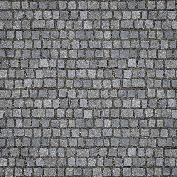 Seamless Cobblestones Texture (1:1 Format) stock photo