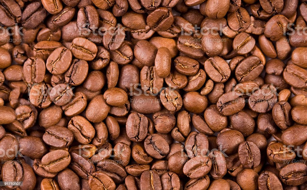 Seamless coffee beans background royalty-free stock photo