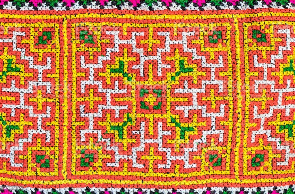 Seamless colorful fabric patern stock photo
