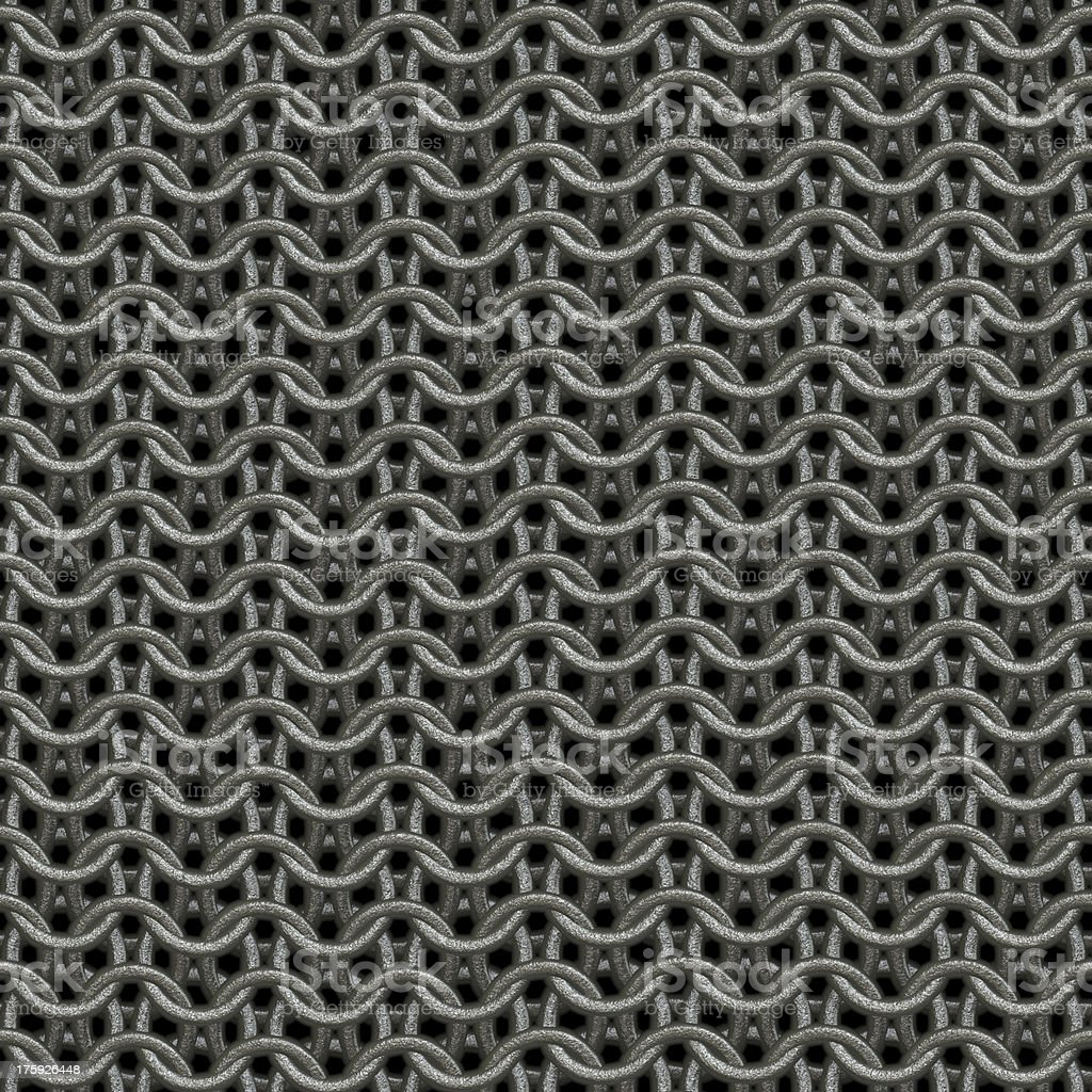 Seamless computer generated chain mail texture close up royalty-free stock photo