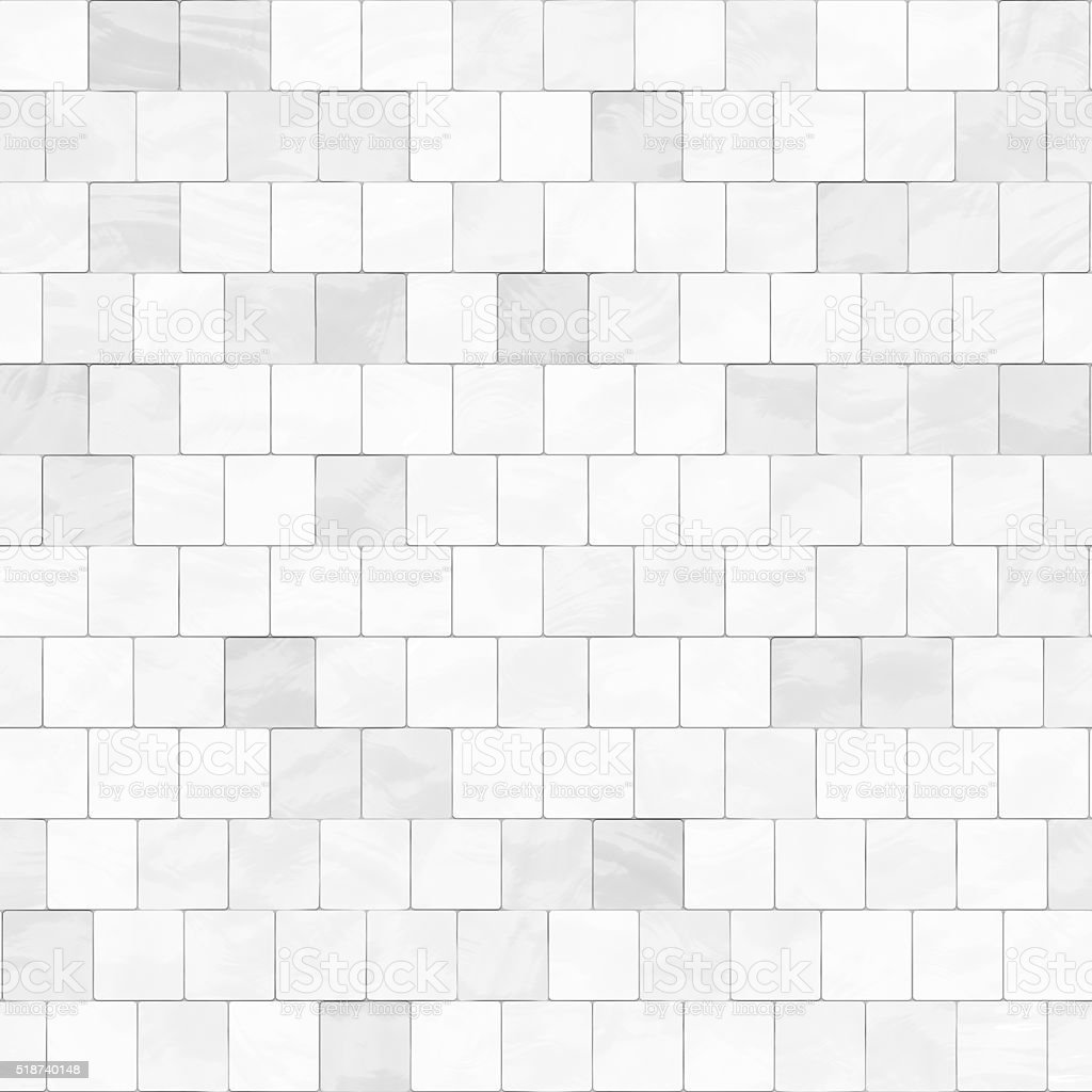 Seamless digitally created white tile pattern stock photo