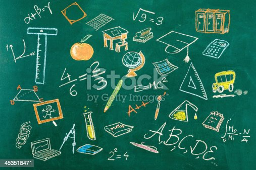 istock Seamless Education Background 453518471