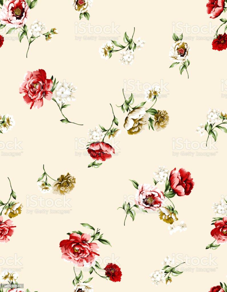 seamless flower pattern zbiór zdjęć royalty-free