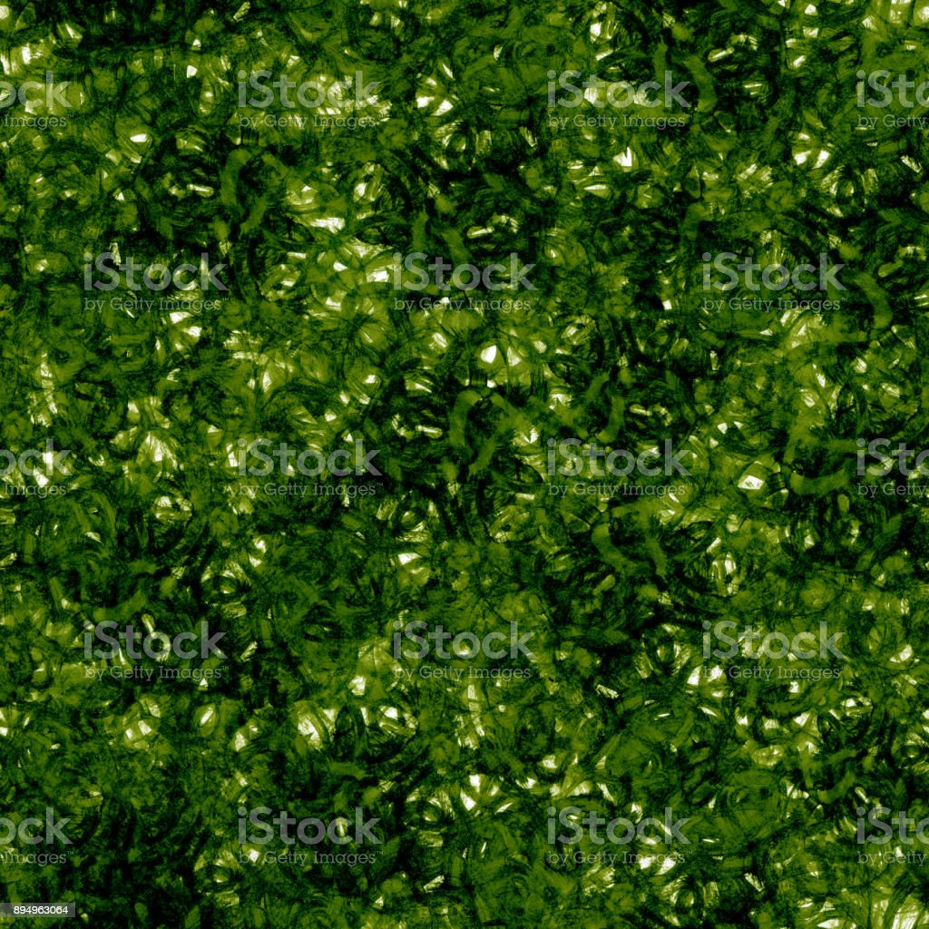 Seamless fresh hand made brush painted spring green pattern background stock photo