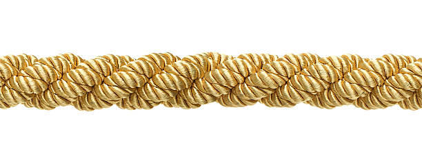 Seamless gold rope stock photo